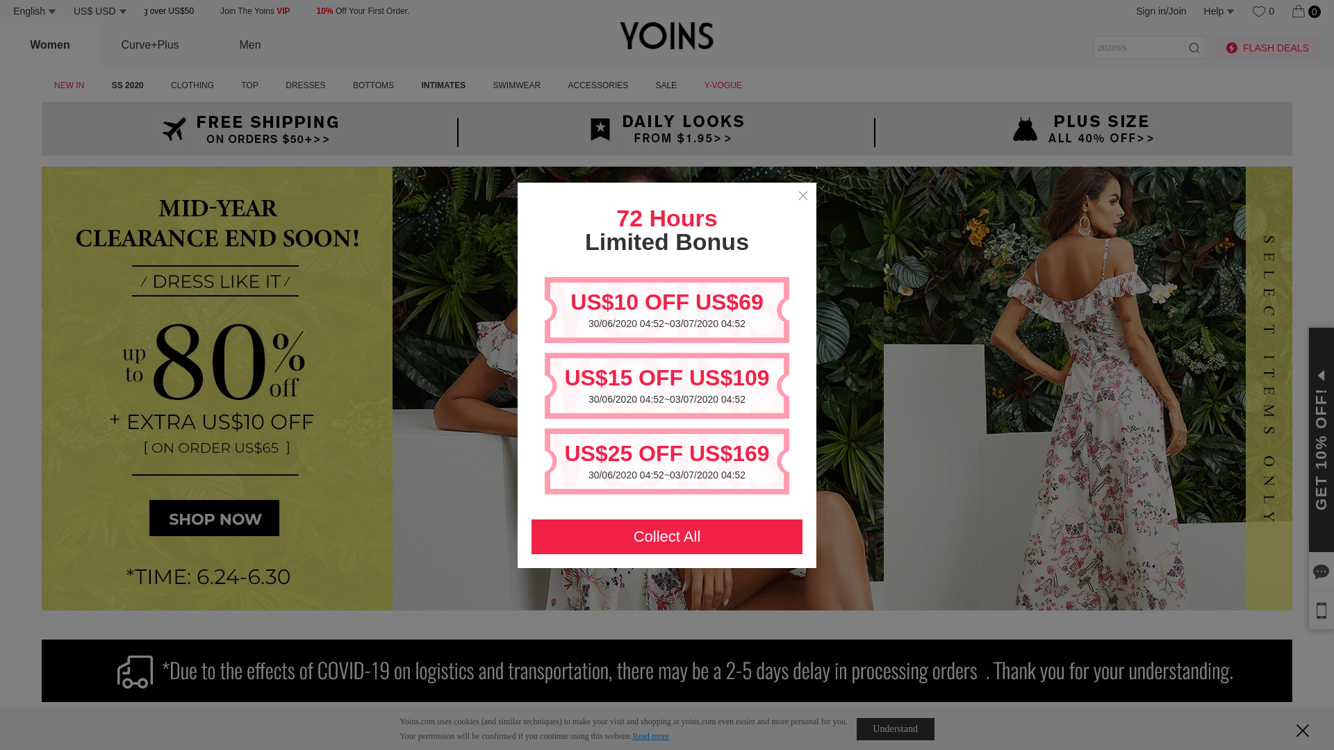 YOINS - World website