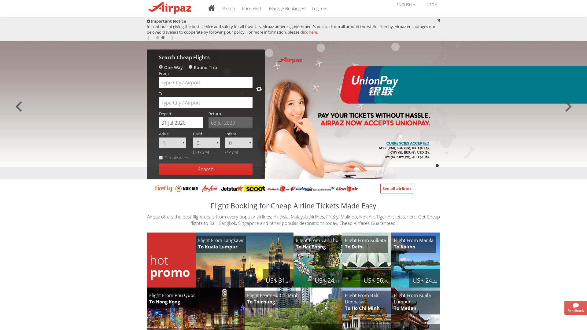 Airpaz / CPS website