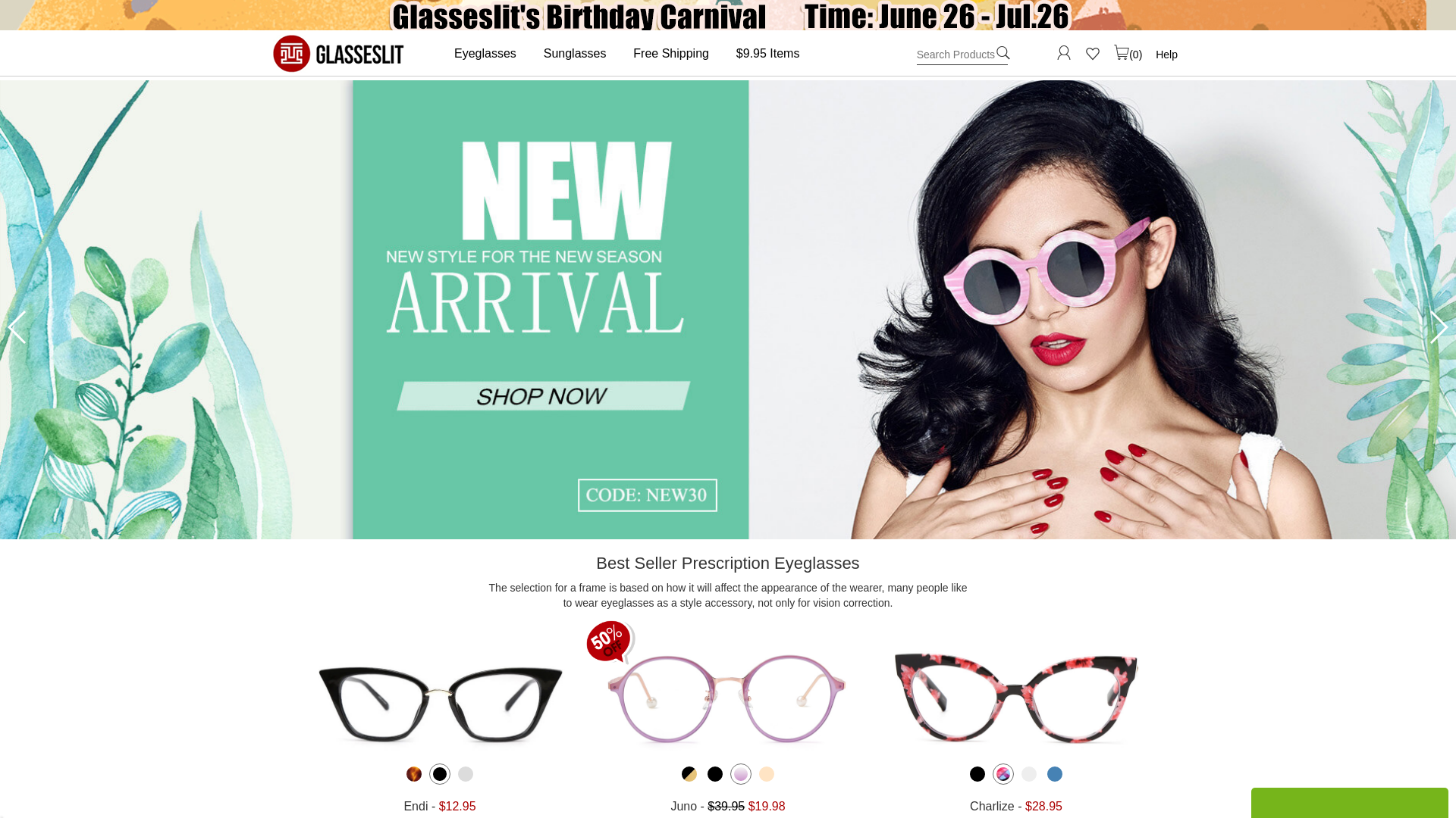 Glasseslit WW website