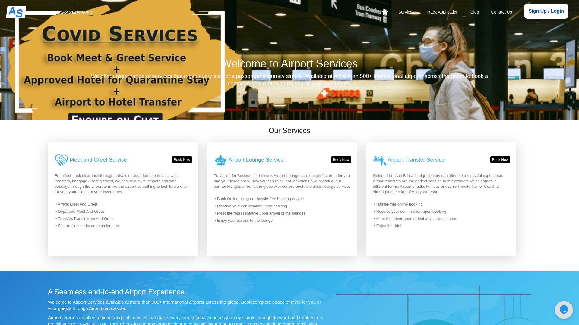 AirportServices WW website
