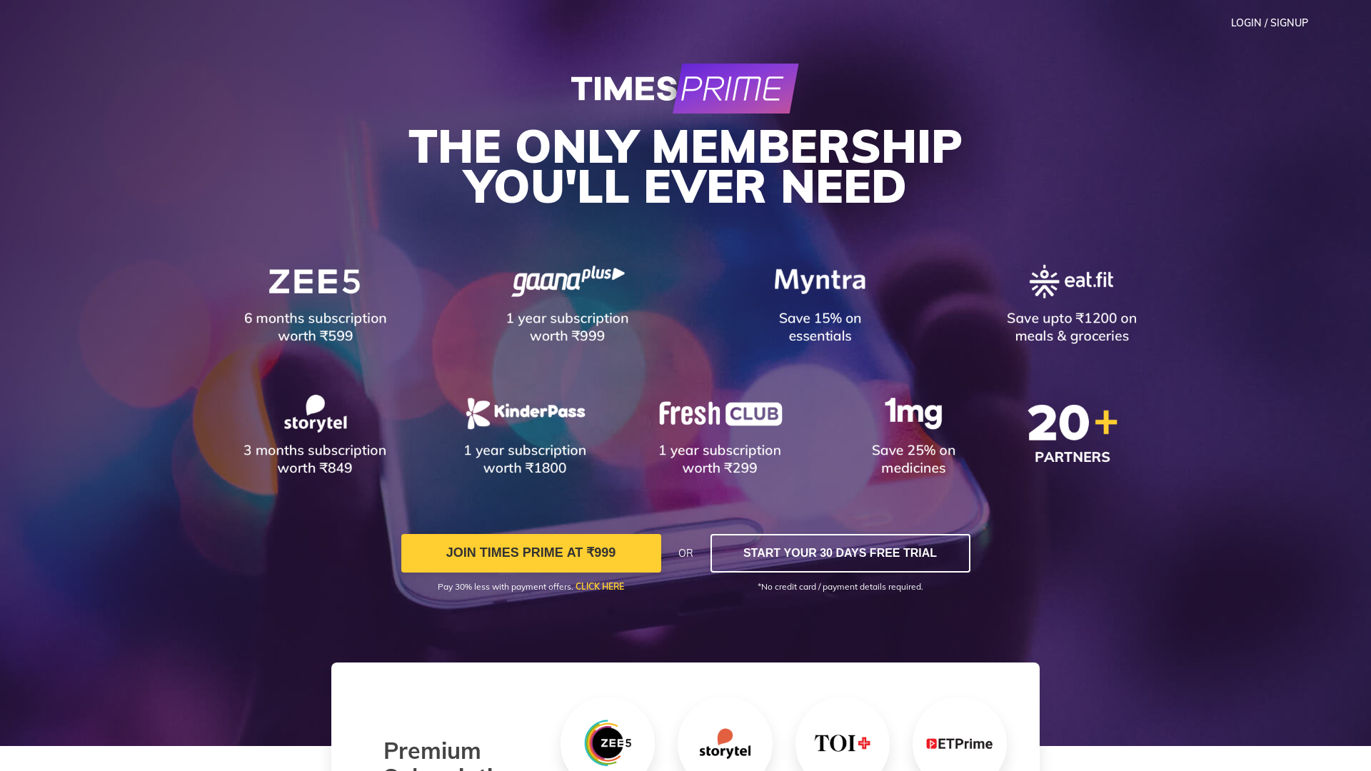 Times Prime [CPA] IN website